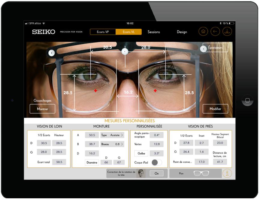 tablette de mesure app Seiko